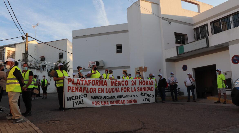 Peñaflor acoge el inicio de las Marchas en Defensa de la Sanidad Pública convocadas por IU en la Vega